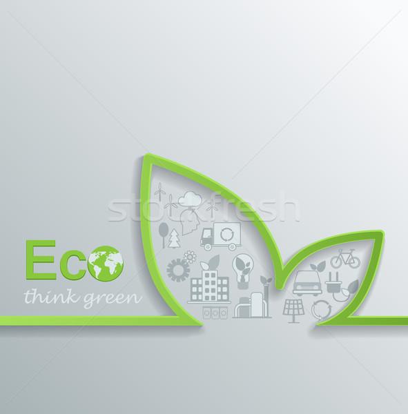 Creativa eco diseno vector coche naturaleza Foto stock © tandaV