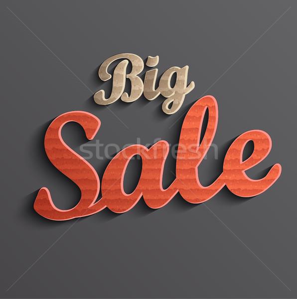 большой продажи баннер скидка иллюстрация розничной Сток-фото © tandaV
