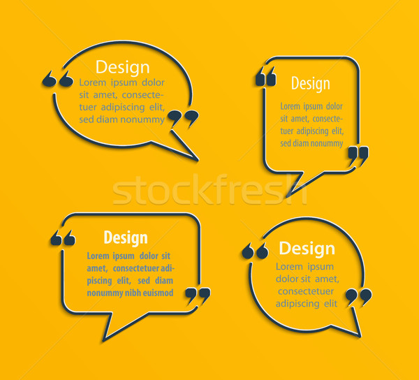 Set of Quote bubbles. Stock photo © tandaV