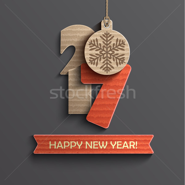 Creative happy new year 2017 design. Stock photo © tandaV