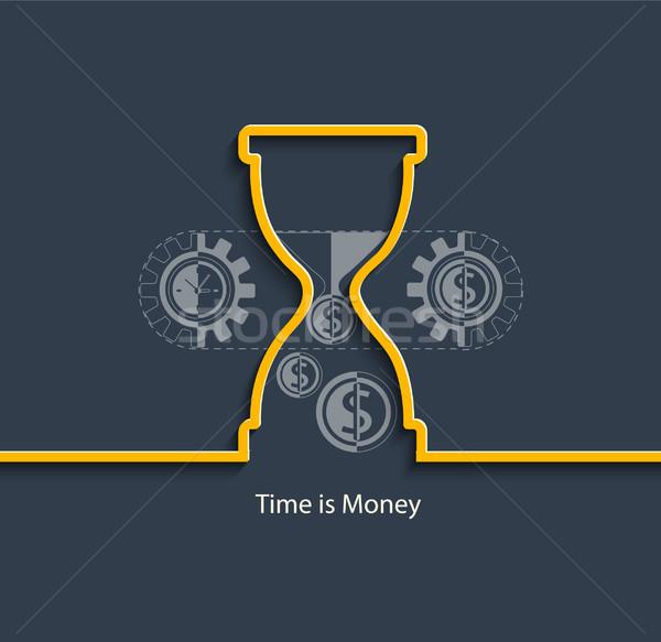 Время-деньги дизайна иконки веб мобильного телефона Сток-фото © tandaV