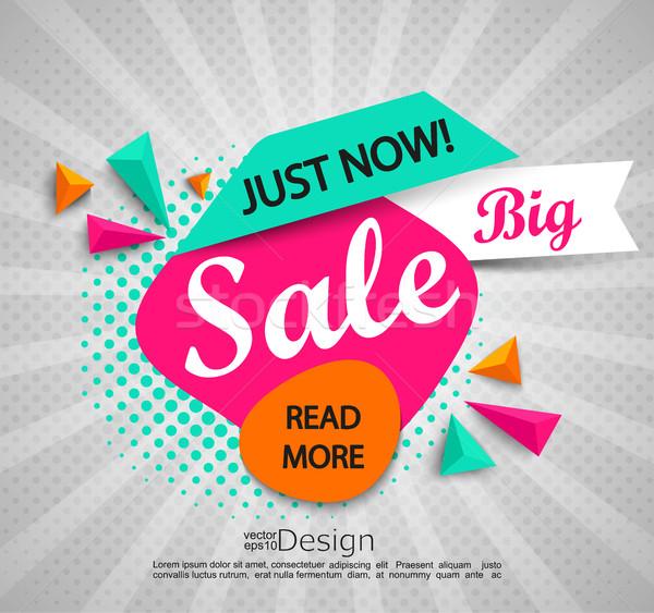 Grande venta banner medios tonos brillante moderna Foto stock © tandaV