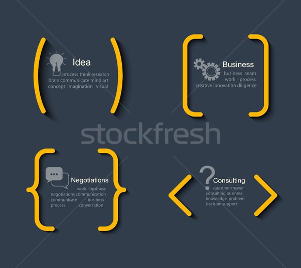 Set modelli citazioni business informazioni testo Foto d'archivio © tandaV