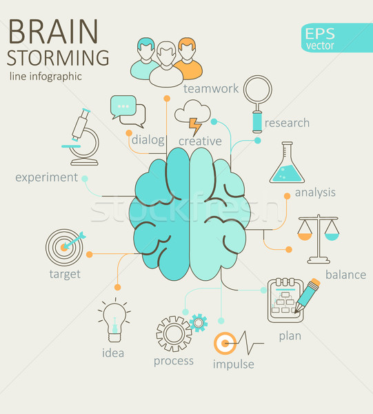 Concept of left and right brain. Stock photo © tandaV