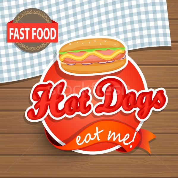 Hot dog concept. Stock photo © tandaV