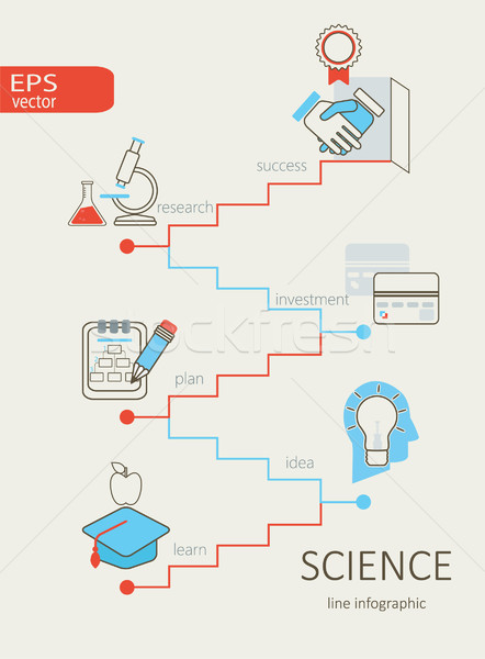 Ciência abstrato escada ícones web design vetor Foto stock © tandaV