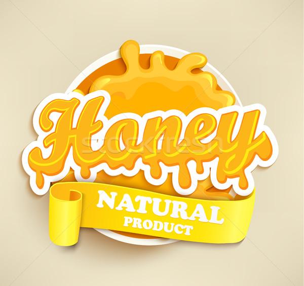 Honey natural label splash. Stock photo © tandaV