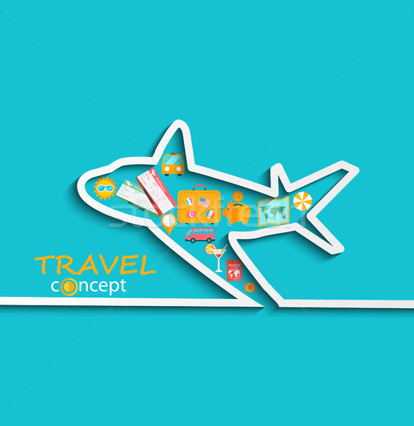 Concept of travelling by plane. Stock photo © tandaV