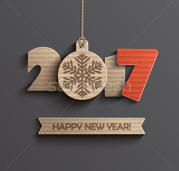 с Новым годом дизайна Creative текстуры вечеринка фон Сток-фото © tandaV