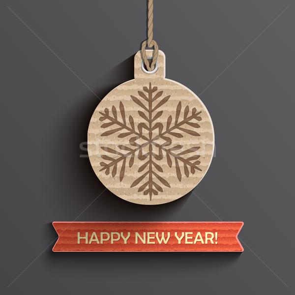 Capodanno carta creativo buon anno design sfondo Foto d'archivio © tandaV