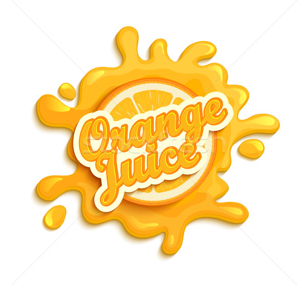 Orange juice label splash. Stock photo © tandaV