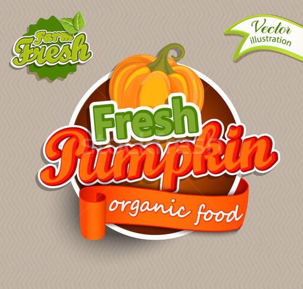 Fresh Pumkin logo. Stock photo © tandaV