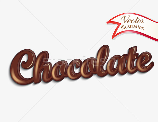 Chocolate label, inscription. Stock photo © tandaV