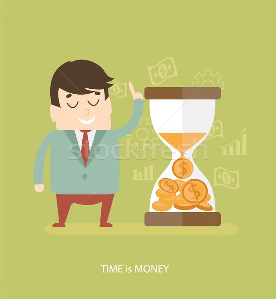 Az idő pénz üzlet terv ikonok háló mobiltelefon Stock fotó © tandaV