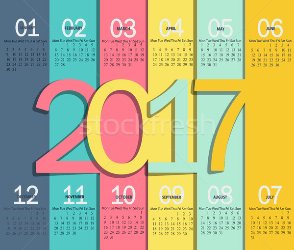 Calendar for 2017. Stock photo © tandaV