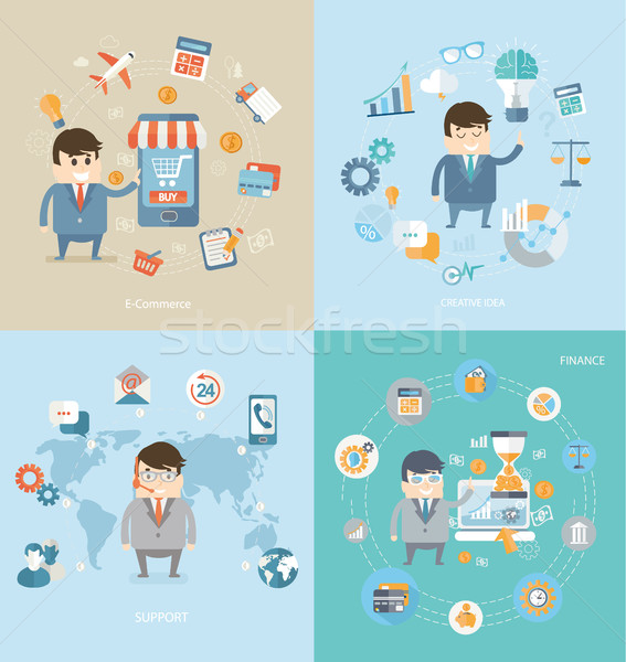 Concept of e-commerce, finance, support, idea. Stock photo © tandaV