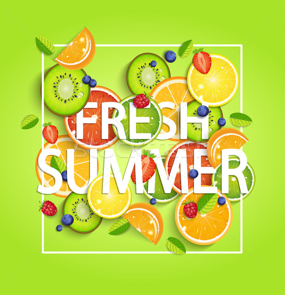Summer background with fruits. Stock photo © tandaV