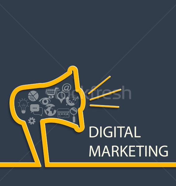 Digital marketing concept. Stock photo © tandaV