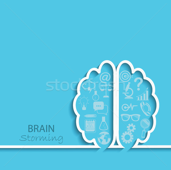 Brainstorm concept, vector. Stock photo © tandaV