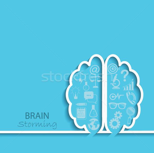 вектора Creative мозг право Идея Сток-фото © tandaV