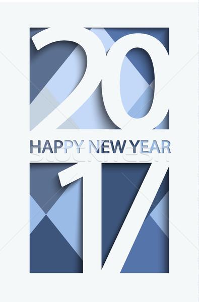 新しい 年 グリーティングカード ベクトル デニム 色 ストックフォト © tandaV