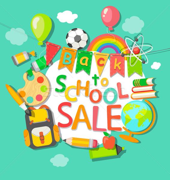 De volta à escola venda eps 10 livro esportes Foto stock © tandaV