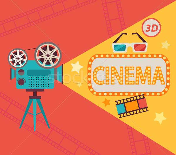 Cinema concept, vector. Stock photo © tandaV