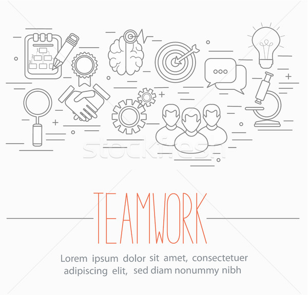 бизнеса команде линия стиль дизайна Сток-фото © tandaV