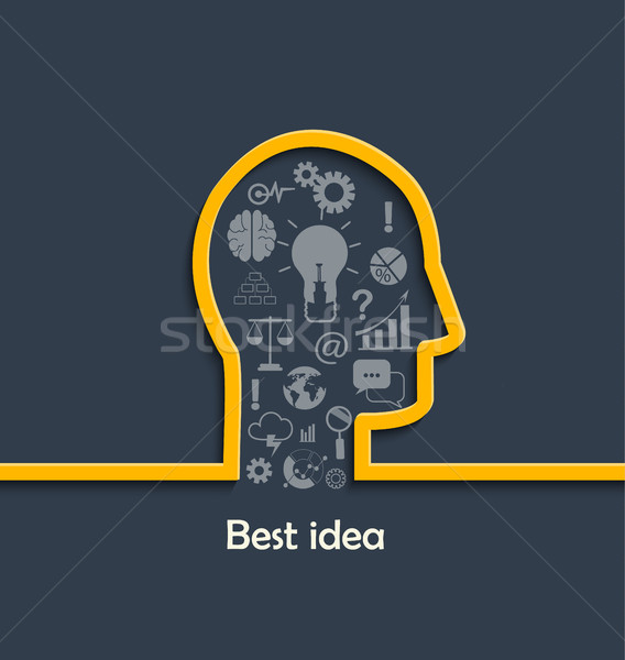 большой лучший вдохновение инновация изобретение Сток-фото © tandaV