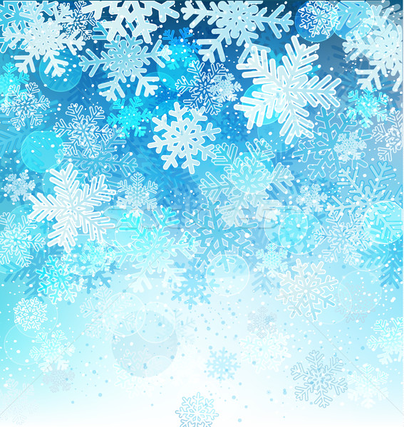 Bright blue background with snowflakes. Stock photo © tandaV