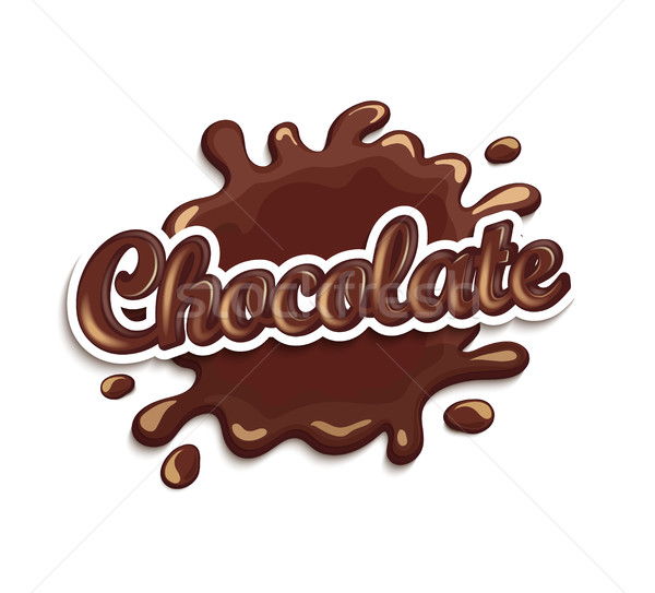 Chocolate drops and blot with lettering. Stock photo © tandaV