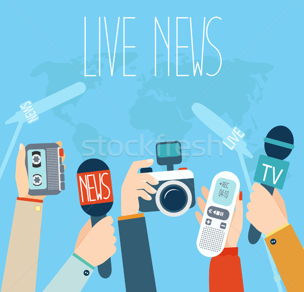 Journalism concept vector illustration. Stock photo © tandaV