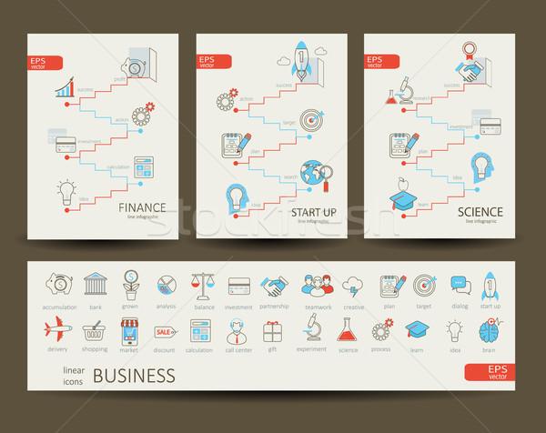 Infográficos financiar ciência startup negócio projeto Foto stock © tandaV