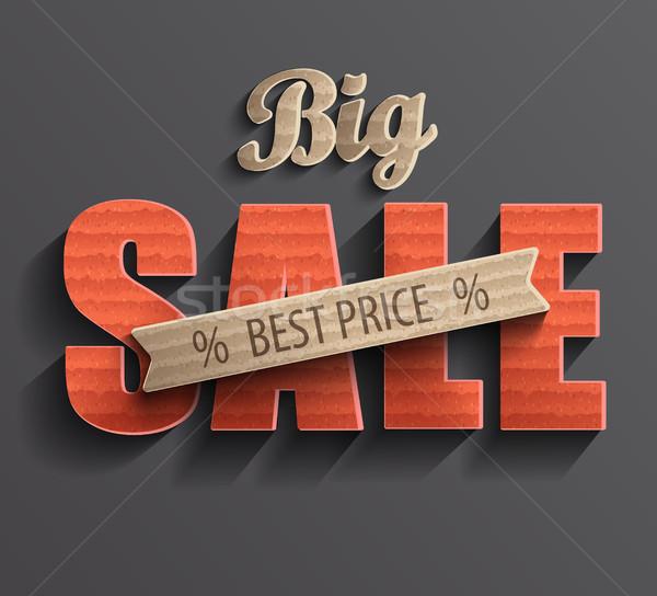 плакат большой продажи баннер бизнеса текстуры Сток-фото © tandaV