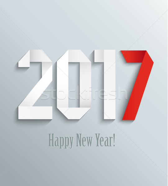 New 2017 year greeting card. Stock photo © tandaV