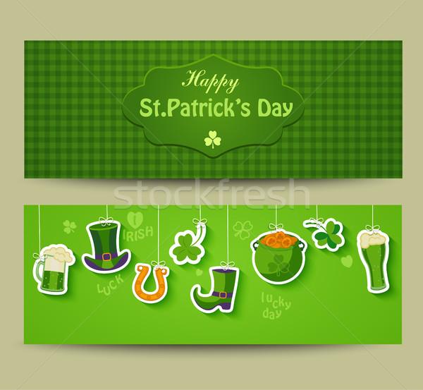 グリーティングカード 幸せ 聖パトリックの日 ポスター バナー 自然 ストックフォト © tandaV