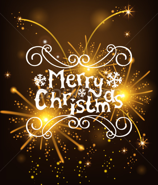 Vector Christmas Messages shine salut background. Stock photo © tandaV