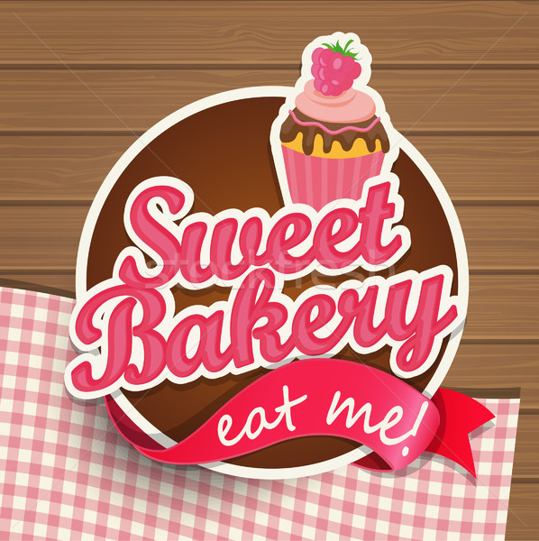 Sweat bakery vintage sticer. Stock photo © tandaV