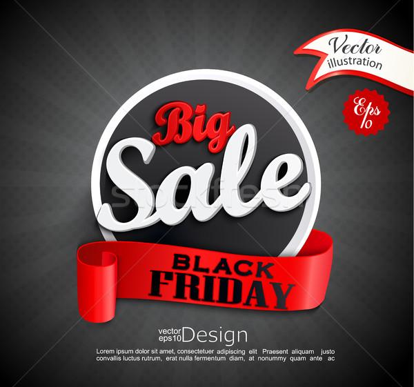 большой продажи черная пятница дизайн шаблона баннер Сток-фото © tandaV