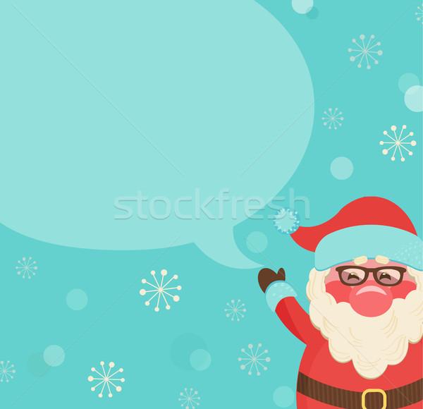 Рождества ретро пузыря шаблон сообщение Сток-фото © tandaV