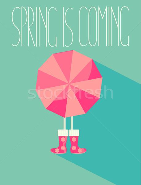 Primavera stagione stile persone luminoso ombrello Foto d'archivio © tandaV