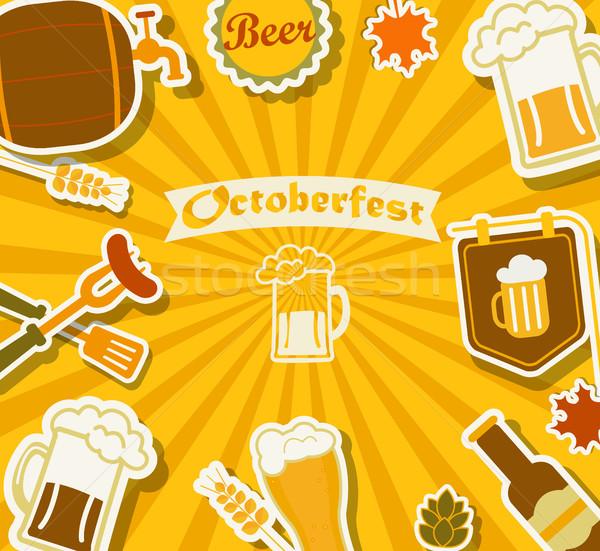 Beer festival - Octoberfest. Stock photo © tandaV