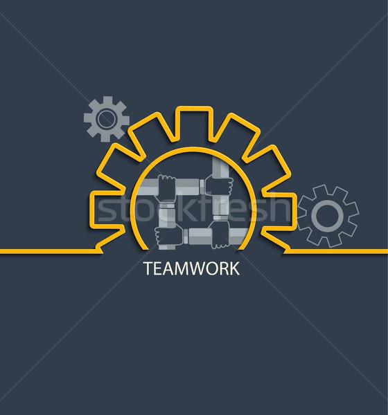 команде вектора бизнеса механизм иллюстрация Сток-фото © tandaV
