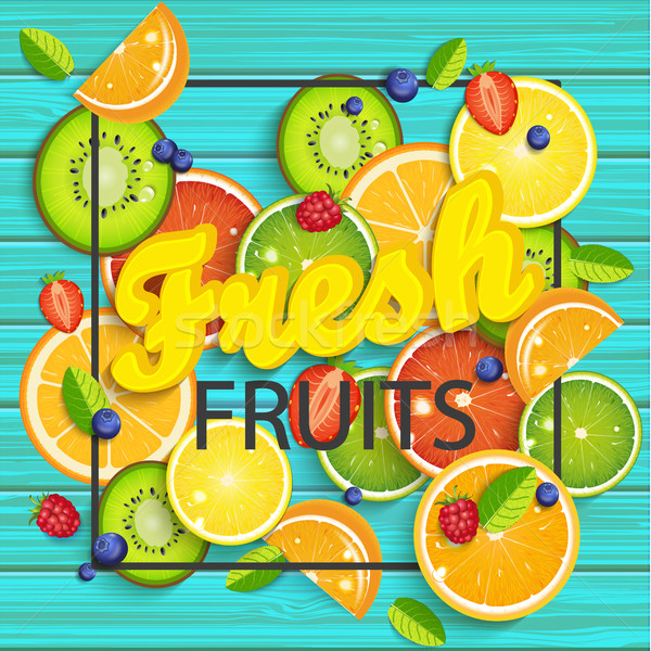 青 木製 熱帯 果物 液果類 広場 ストックフォト © tandaV