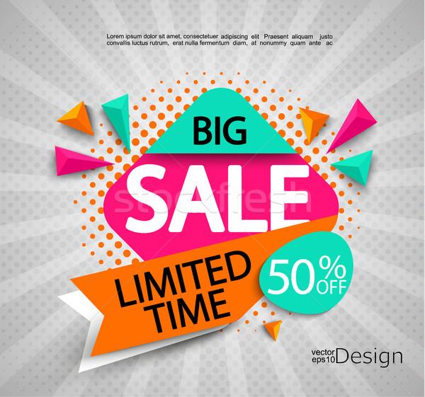 большой продажи время ярко современных баннер Сток-фото © tandaV