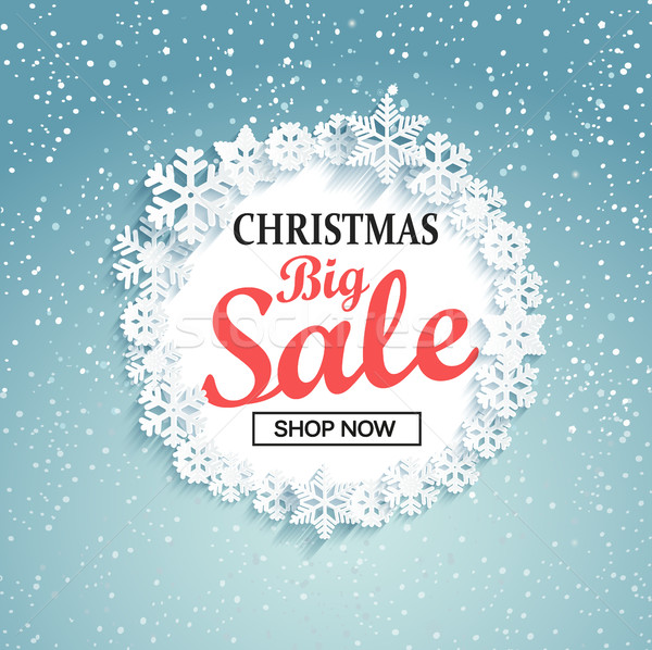 Concept of christmas big sale, vector. Stock photo © tandaV
