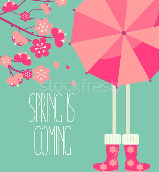 весны сезон стиль люди ярко Сток-фото © tandaV