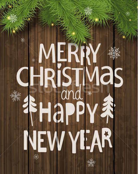Natal ano novo férias cartão saudação cartões Foto stock © tandaV