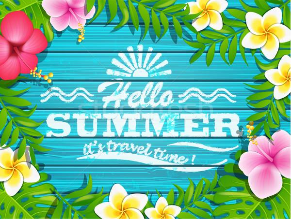 Hello summer concept. Stock photo © tandaV