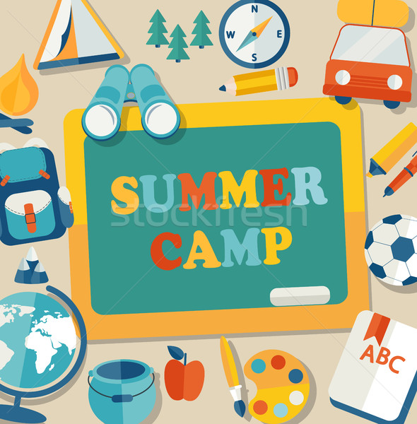 Summer camp illustration. Stock photo © tandaV
